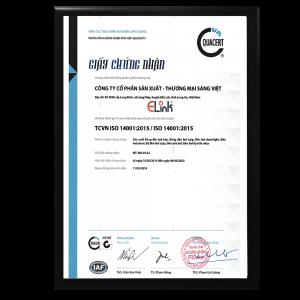 CHỨNG NHẬN QUẢN LÍ MÔI TRƯỜNG ISO 14001:2015